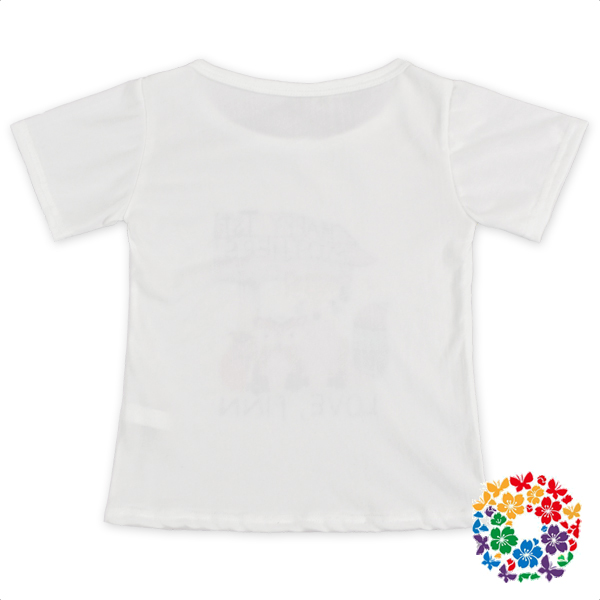Plain White Cotton Short Sleeve Baby Shirts Boutique Cartoon Design Infant Tops