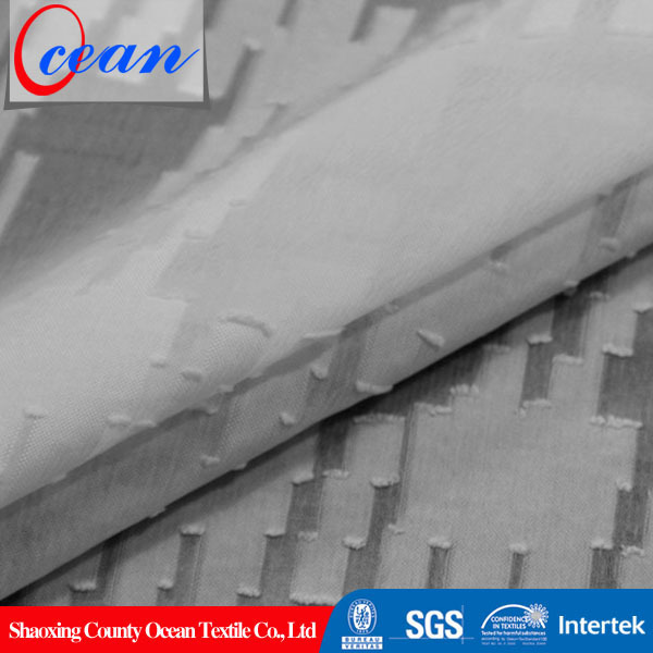 Ocean textile polyester organza clipped spot gingham for garment