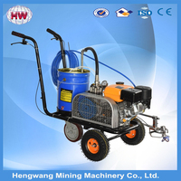 Thermoplastic paint boiler combined road line marking paint machine for sale