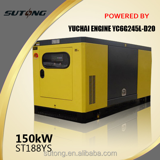 Hot sell!!!Yuchai Water-cooled diesel back up generator