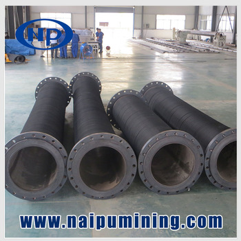 High wear resistant rubber mining slurry hoses