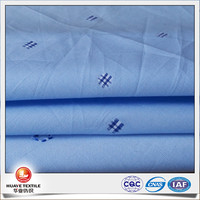 New design blue color 100% cotton swiss dot fabric for shirt