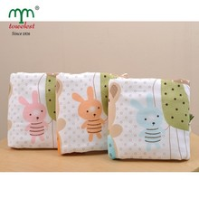 New Born Baby Products Cartoon Print Swaddle Baby Swaddle Cotton Muslin Gauze Terry Cloth Blanket
