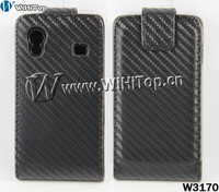 Good Quality s5830 magnetic flip cover, real leather flip case for Samsung Galaxy Ace s5830