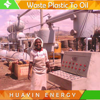 Waste Scrap Plastic Tire Pyrolysis Recycling Line To Diesel Without Emission