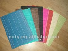 Assorted colors bamboo dining table mat set