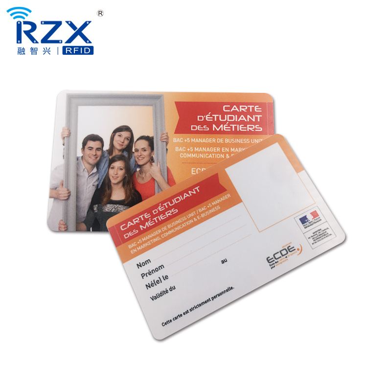 Digital Printing Plastic Photo ID Card design For School Students