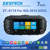 car gps for Kia Soul 2014 2015 navigation system with DVD radio 3G BT TV SWC car navigation
