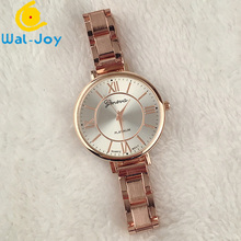 WJ-5225-2 hot sale vogue attractive alloy band Geneva quartz luxury women wrist watch