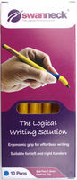 Pack of 10 Yellow Color Ball Pen with 1.0 mm Tip