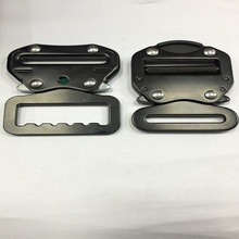 50mm 23KN Light duty black color metal side release buckle