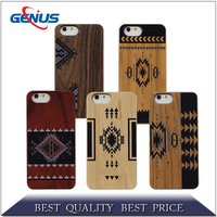 high quality wood cover for iphone 6, mobile phone bamboo PC wooden cases for iphone 6