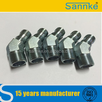carbon steel metric 45 degree elbow hydraulic fitting