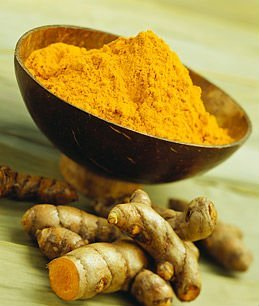 Turmeric powder and finger