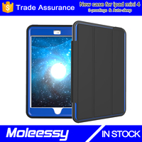 Brand New for Ipad Mini 4 Genuine Leather Case with Smart Sleep Function