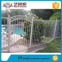 Easily assembled wrought farm iron fence mesh design/garden fence