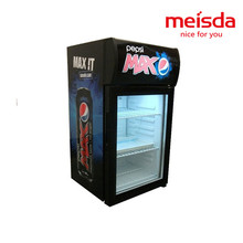Meisda 40L stainless steel counter top display refrigerator for beer