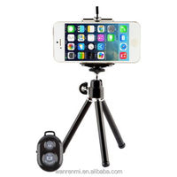 Universal car Mobile Phone stand tripod Clip Holder mount bracket Adapter With Bluetooth Remote Shutter For iphone