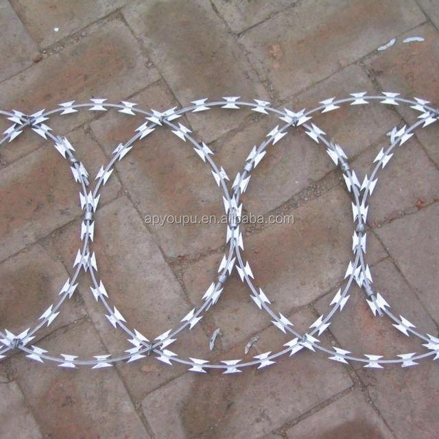 High quality Galvanized razor barbed wire razor wire BTO 22 30 CBT 60 65
