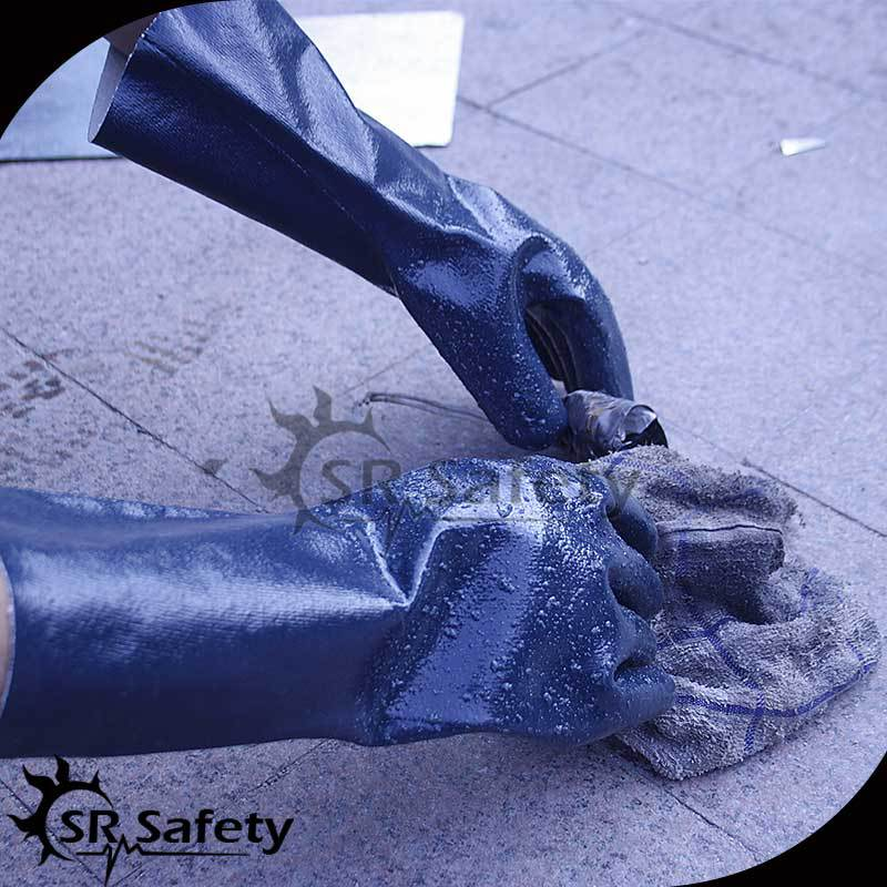 SRSAFETY Best longer pvc dipped gloves/pvc glove dot machine