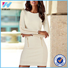 China online shopping ladies winter one piece dress plain dress designs for elegant women