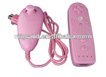 Pink Mini Remote and Nunchuk game controllers for wii