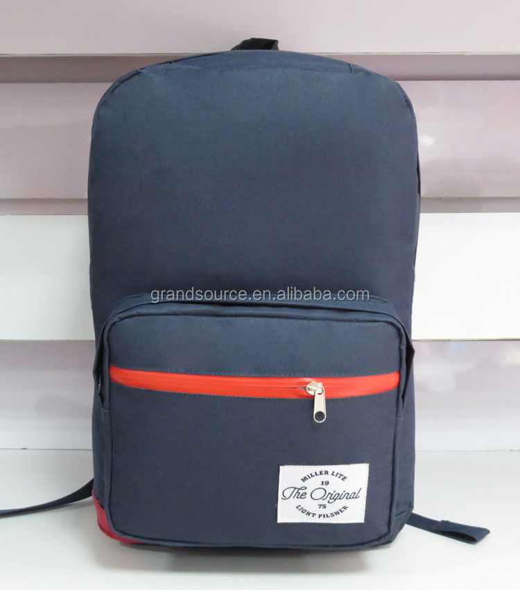 High quality Navy blue notebook laptop school backpack daybag