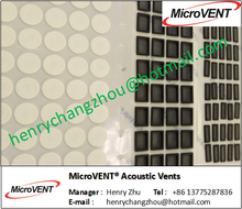 < MicroVENT> High Airflow Breathable Waterproof IP 67 Acoustic Vent Membrane Waterproof acoustic membrane for Speakers
