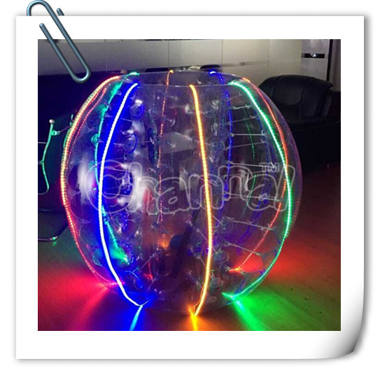 Factory direct sales buy PVC inflatable LED bubble ball soccer
