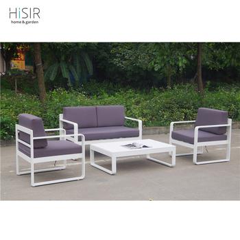 Aluminium sofa set with cushion outdoor furniture made in china ...
