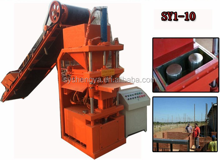 2015 new product Automatic Clay/soil bricks machine SKYPE:wuyan535, hydraulic clay unfired brick making machine