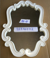 A 2015 cheap hot-sale modern white carved wooden frame make up large wall shaving dressing room mirror factory wholesale