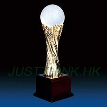 Resin Trophy with Crystal Basketball FZ-HG-XF4001-1