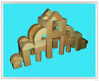 Designer manufacture diy puzzle house model toy