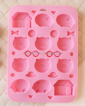 custom different shape silicone baking molds