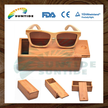 Hand Made Pull Out Natural Wood Case for sunglass