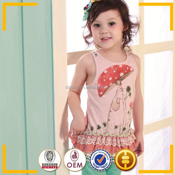 T shirt Children's clothing wholesale factory china Country girls clothing summer