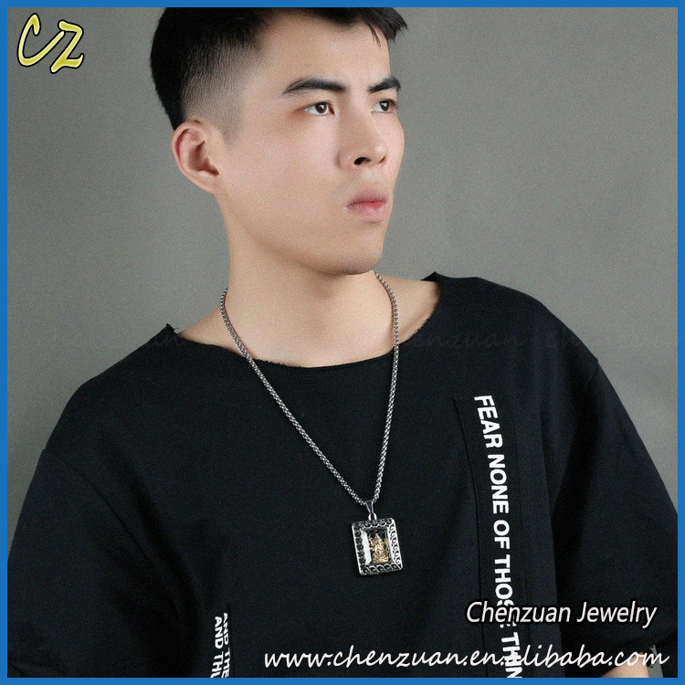 Online shop China factory price 316L stainless steel jewelry pendant necklace for men