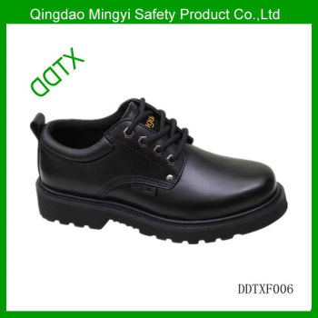 DDTX rubber sole cow action leather steel toe cap CE approved safety work shoes