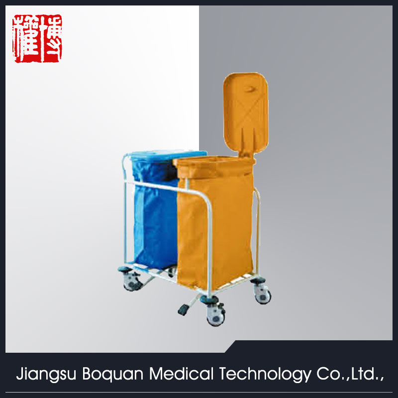 stainless steel hospital cleaning trolley waste trolley