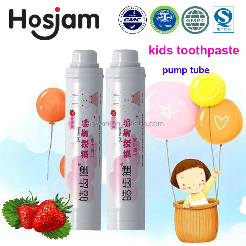 60g children private label strawberry toothpaste for home use