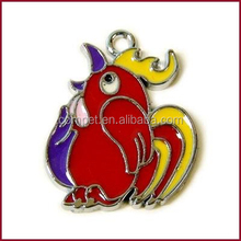 Parrot Pendant charms for mobile jewelry, key rings, bracelets, necklaces and dog collar