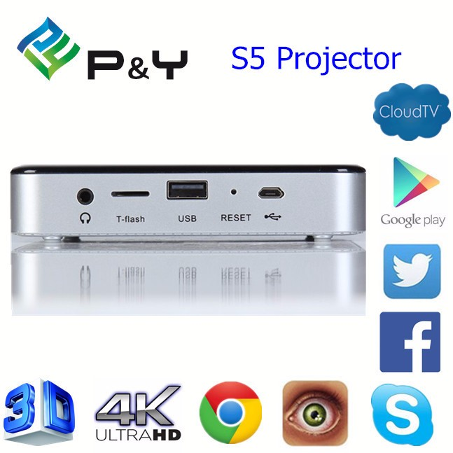 S5 mini dlp android projector with wifi battery powered mini projector 3d mini projector