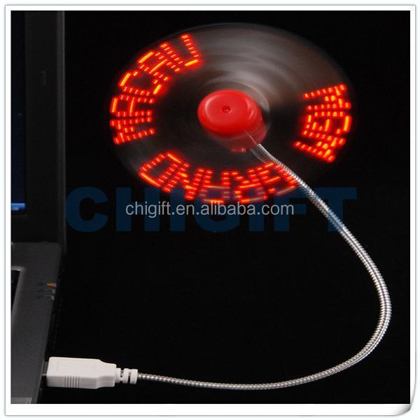 Interesting Gifts USB Programmable LED Message Fan