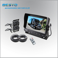 Heavy vehicle rear view reversing monitor with camera system