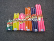export non drip thin taper white candles to W. Africa