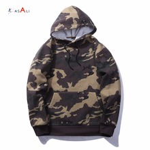 Wholesale camouflage hoodie sweatshirt with kangaroo pocket casual style