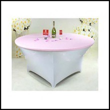 wholesale spandex light pink round table cloth for wedding manufacturer