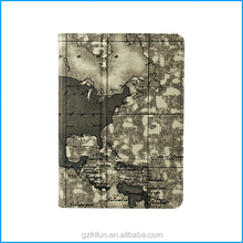 Retro designed canvas stand case for iPad air 5-map