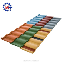 Roman wind and corrosion resistance stone coated steel roof tiles for building roof construction
